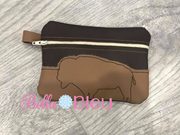ITH Buffalo Wallet Machine embroidery design