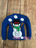 ITH Up to Snow Good Snowman Elf Sweater Shirt Machine Embroidery design