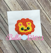 Lion Head Mascot Machine applique embroidery design