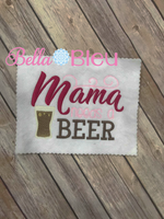 Mama needs a beer sketchy machine embroidery design