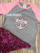 Anchor with Banner Applique Machine Embroidery design