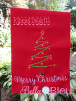 Christmas Tree sketchy machine embroidery design 8x12