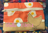 ITH Farm Chicken Wallet Machine embroidery design