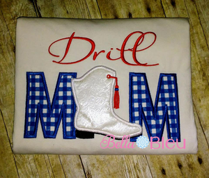 Applique Drill Mom Machine Embroidery Design