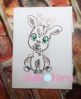 Deer Bean Stitch Colorwork 5x5 Machine embroidery design