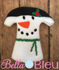 ITH Elf Girl Snowman Snowgirl dress machine embroidery design