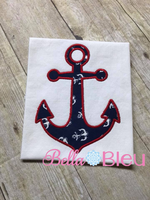 Anchor Applique Embroidery Design 5x7