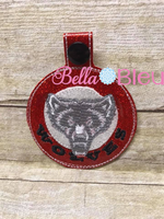 ITH Mascot Wolves Wolf  Key fob Luggage Tag