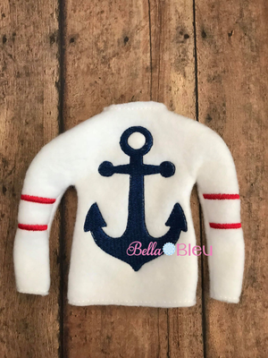 ITH Elf Sweater Shirt with Nautical Anchor