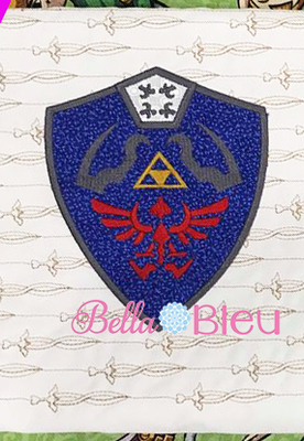 Inspired Zelda Shield Machine Applique Design 8x8