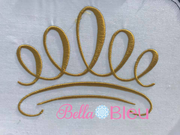 Princess Crown machine embroidery design 4x4
