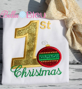Baby's 1st Christmas with Ornament Machine Applique