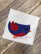 Nautical Sailor Bird Machine Applique 8x8