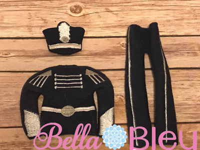 Elf Marching Band Set Pants Sweater Shakeo hat in the hoop ith embroidery design