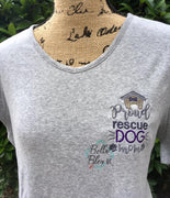 Proud Rescue dog Mom sketchy machine Embroidery design
