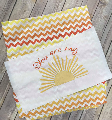 Sketchy You are my Sunshine Sun machine embroidery design 7x11