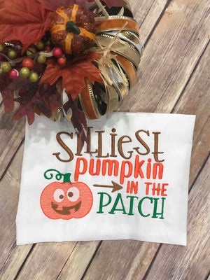 Sketchy Silliest Pumpkin in the Patch machine embroidery design 7x11