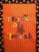 Trick or Treat Halloween Machine Applique Embroidery Design