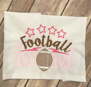 Sketchy Football Mom machine embroidery design 5x7