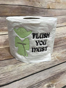 Inspired Yoda Toilet Paper Funny Saying Star Wars Flush you Must Machine Embroidery Design sketchy