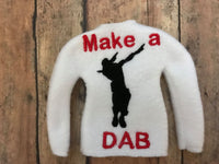 Inspired Fortnite Dance Dab Elf Sweater In the hoop ith embroidery design