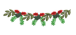 Christmas Garland Swag 2 Machine Embroidery 2x7