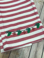 Christmas Garland Holly Swag Machine Embroidery 5x7