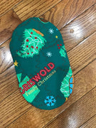 ITH In The Hoop Kitchen Oval Christmas Tree Pot holder Oven Mitt 5x7