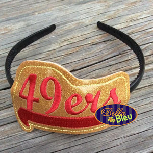 ITH in the hoop 49ers Headband Topper machine embroidery