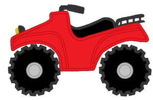 4 Wheeler Applique Machine Embroidery Design