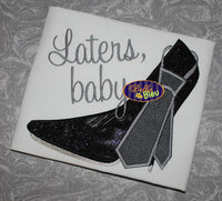 Sexy Stiletto Heel with Tie Machine Embroidery Design