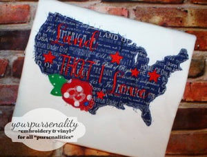 4th of July United States Land that I love Raggy applique Machine Embroidery design