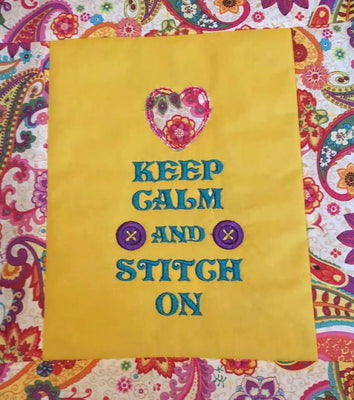 Keep Calm and Stitch On Machine Embroidery Design