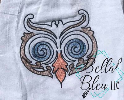 Sketchy Owl bird  Machine Embroidery design