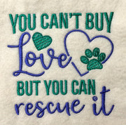 Rescue dog cat machine Embroidery design