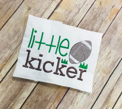 Football Little Kicker  Machine Embroidery Design Sketchy