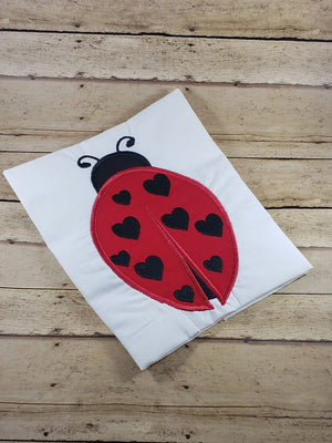 Ladybug Insect Bug Machine Applique Embroidery Design