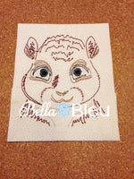 Chipmunk Quick Stitch Colorwork Machine Embroidery Design