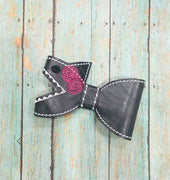 ITH Shark Bow with floral design