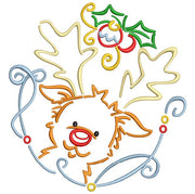 Christmas Reindeer Machine Embroidery Design