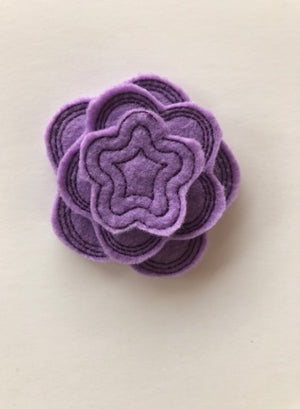 ITH Stackable Felt Flowers felties Embroidery Design