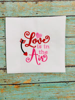 Love is in the Air Valentines Day Embroidery design