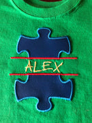 Split Puzzle Piece Applique