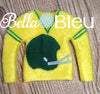 ITH In The Hoop Elf Football Helmet Sweater Shirt Embroidery Design