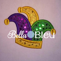 Mardi Gras Jester Hat Applique Embroidery Designs Design Monogram