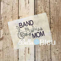 Marching Band Mom with Music Notes Machine Embroidery design