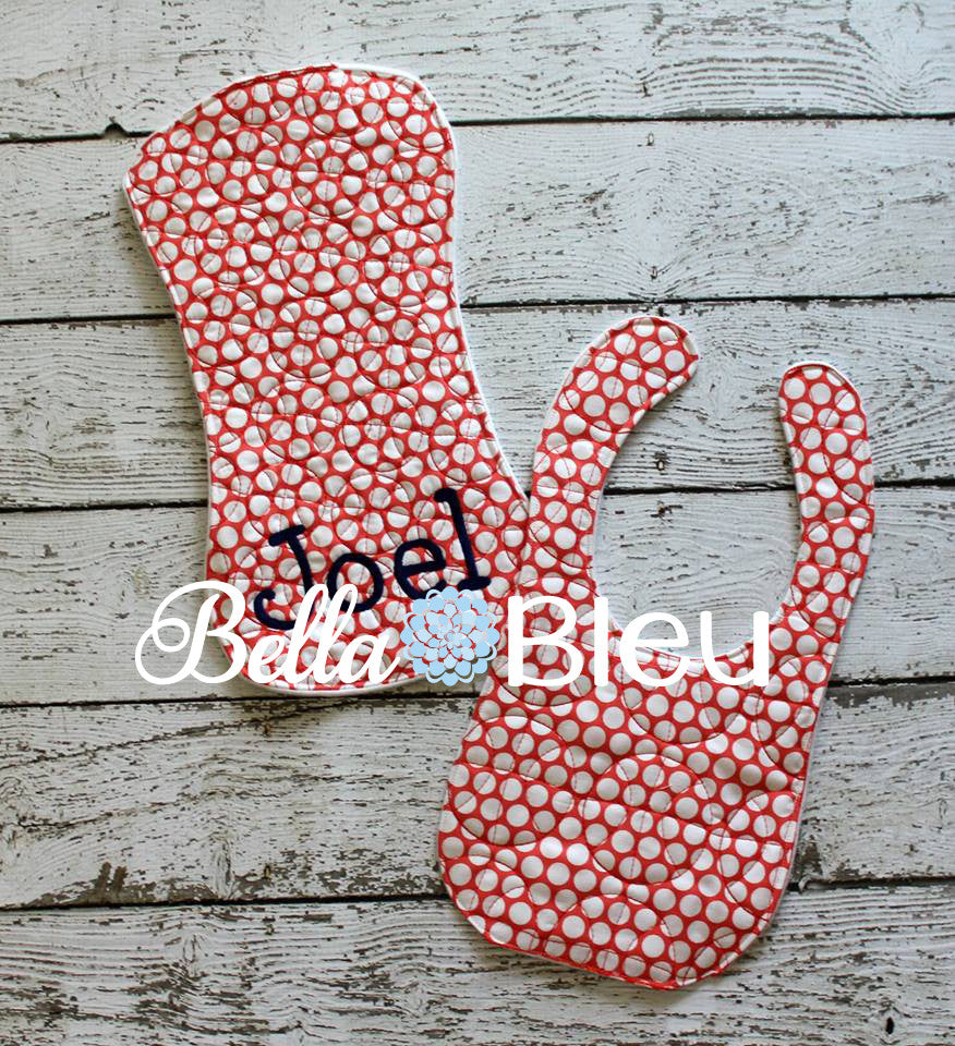 Beautiful Basketball Quilt Stipple Stippling ITH In the hoop baby bib