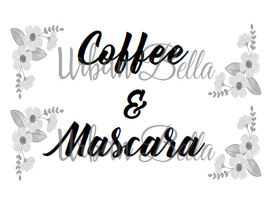 Coffee and Mascara Sublimation png file