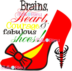 Inspired Wizard of Oz Red Ruby Shoes Printable Cut file