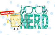 Funny Saying Book Nerd Sublimation png file